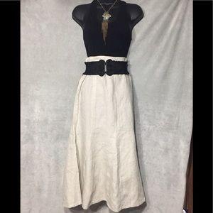 NWT-Kim Rogers 100% Linen Skirt